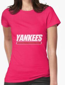 Ny Yankees Ny Giants logo swap Womens Fitted T-Shirt