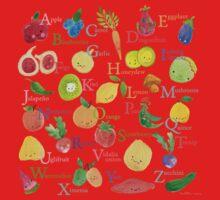 Fruit and Veggie Alphabet Kids Tee