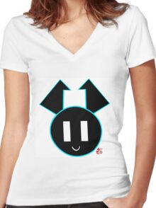 XJ9 Icon Women's Fitted V-Neck T-Shirt
