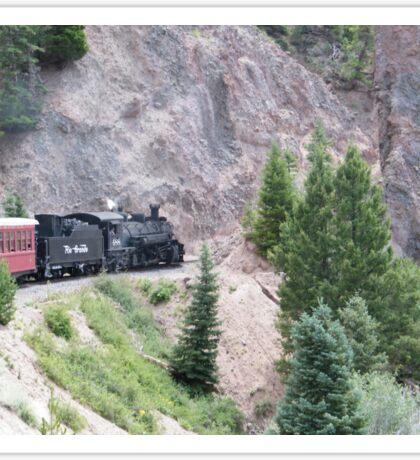 Vintage Locomotive, Cumbres-Toltec Narrow-Gauge Railroad, Chama, New Mexico Sticker