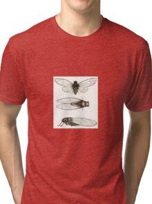 3 sepia Cicadas Tri-blend T-Shirt