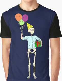 Happy Birthday Skeleton Graphic T-Shirt