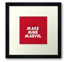 Make Mine Spidey Framed Print
