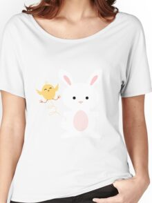 Chick and Bunny Easter Apparel Women's Relaxed Fit T-Shirt