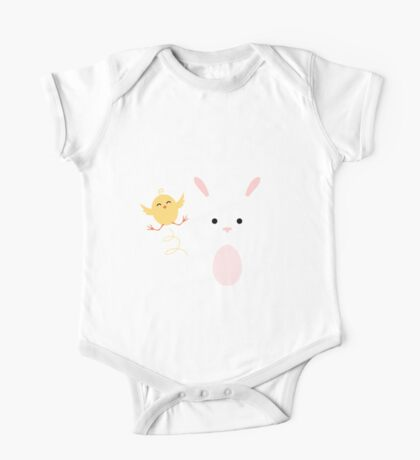 Chick and Bunny Easter Apparel One Piece - Short Sleeve