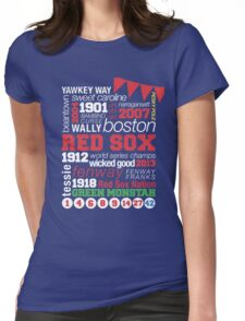 Boston Red Sox Typography Womens Fitted T-Shirt