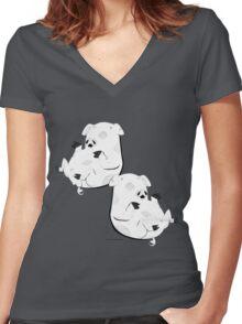 Piggies Women's Fitted V-Neck T-Shirt