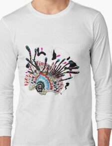 Psychedelic coral abstract flower Long Sleeve T-Shirt