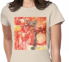 Under the Sea Watercolour and Ink on Yupo Womens Fitted T-Shirt