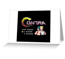 Contra Title Greeting Card