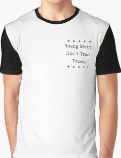 Young Metro Don't Trust Trump (Mini Logo/ Stars/ Black) Graphic T-Shirt
