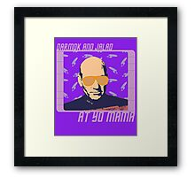 Picard Throwing Shade Framed Print