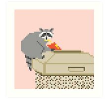 Fast Food Raccoon Art Print