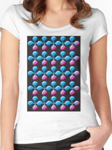Rainbow Flowers Abstract Six Women's Fitted Scoop T-Shirt