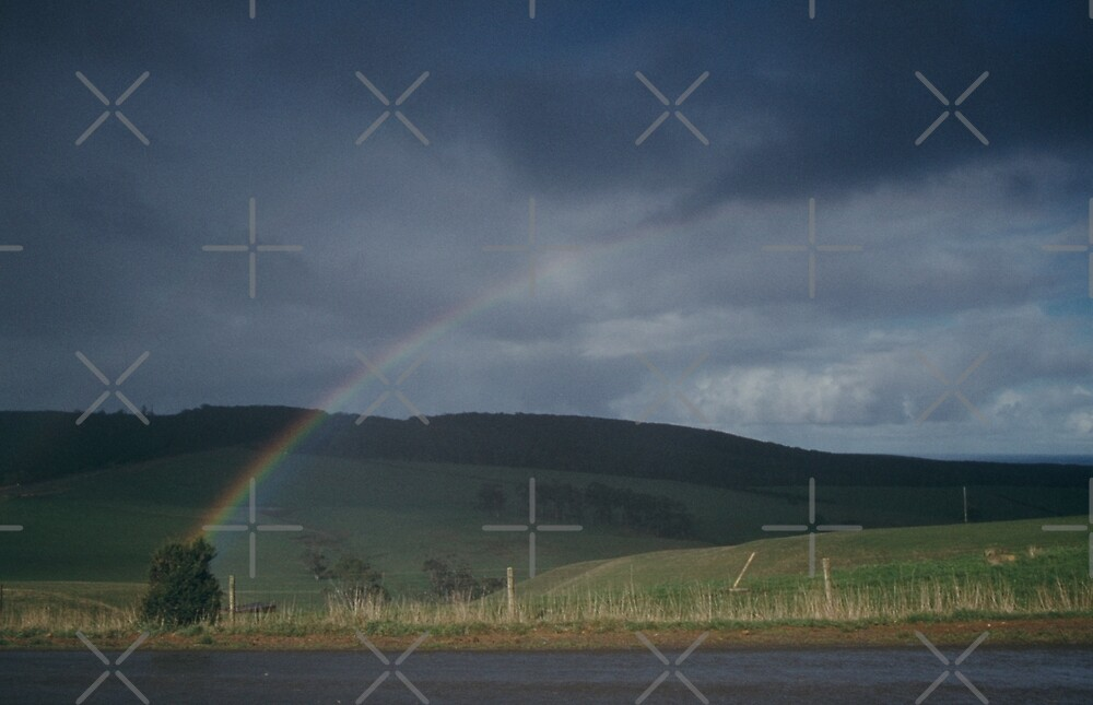 Rainbow and Meadows by haymelter