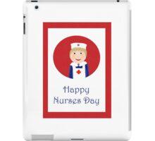 Happy Nurses day, nurse in apron and cap. iPad Case/Skin