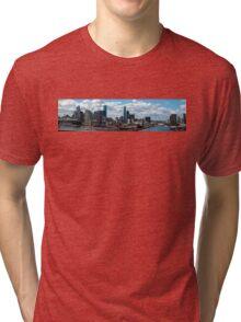 Building Melbourne, a view from Bolte Bridge  Tri-blend T-Shirt