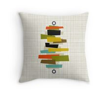 Eames Era Stacks Throw Pillow