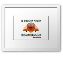 I Love the Skywhale Photograph Canberra Balloon Festival Framed Print