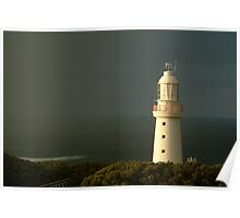 Joe Mortelliti Gallery - Sunrise rain, Cape Otway Light, Great Ocean Road, Victoria, Australia. Poster