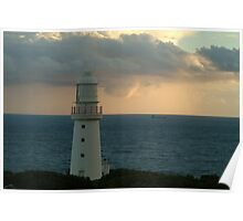 Joe Mortelliti Gallery - Lonely ship on the Bass Strait, Cape Otway Lighthouse, Great Ocean Road, Victoria, Australia. Poster