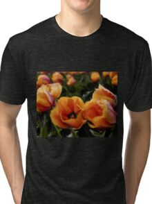 Unique Beauty - Flower Art Tri-blend T-Shirt