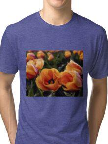 Unique Beauty - Flower Art Tri-blend T-Shirt