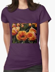 Unique Beauty - Flower Art Womens Fitted T-Shirt