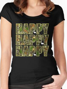 happy happy Women's Fitted Scoop T-Shirt