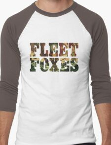 Fleet Foxes Logo Men's Baseball ¾ T-Shirt