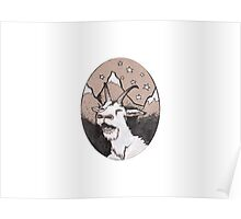 Sprinkles the Mountain Goat Poster
