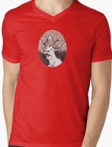 Sprinkles the Mountain Goat Mens V-Neck T-Shirt