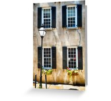 Charleston Windows And Lamp Post  Greeting Card