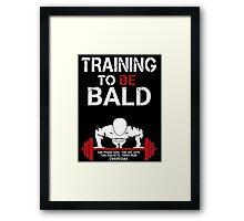 Training to be bald one punch man manga cosplay anime t shirt  Framed Print