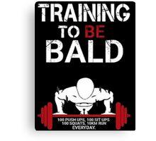 Training to be bald one punch man manga cosplay anime t shirt  Canvas Print