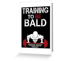 Training to be bald one punch man manga cosplay anime t shirt  Greeting Card