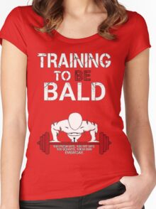 Training to be bald one punch man manga cosplay anime t shirt  Women's Fitted Scoop T-Shirt