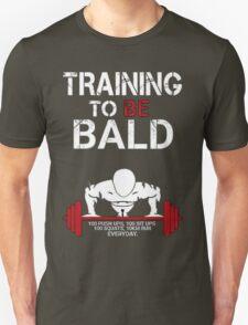 Training to be bald one punch man manga cosplay anime t shirt  T-Shirt