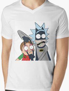 Batman Rick Mens V-Neck T-Shirt
