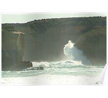 Joe Mortelliti Gallery - Pounding waves at Sherbrooke Beach, near Port Campbell and the Twelve Apostles, Great Ocean Road, Victoria, Australia. Poster