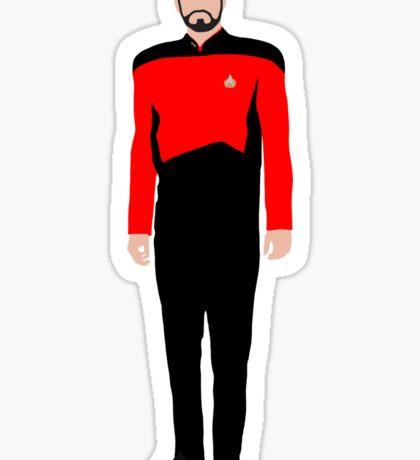 Star Trek - Minimalist Riker Sticker