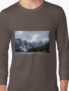 Moraine Lake Nestled In The Valley Of The Ten Peaks - Banff National Park Long Sleeve T-Shirt