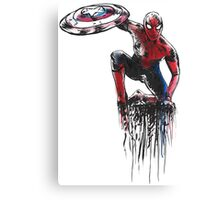 Spider Man Civil War Canvas Print