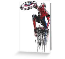Spider Man Civil War Greeting Card