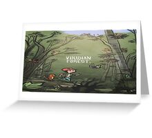 Viridian Forest Pokemon  Greeting Card