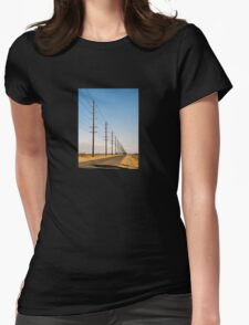 Telephone Poles Womens Fitted T-Shirt