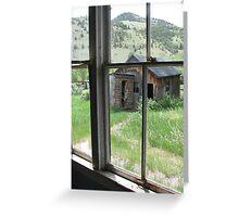 Ghost's view, Bannack, Montana Greeting Card