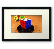 3D Rubiks Cube Framed Print