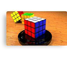 3D Rubiks Cube Canvas Print