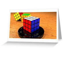 3D Rubiks Cube Greeting Card